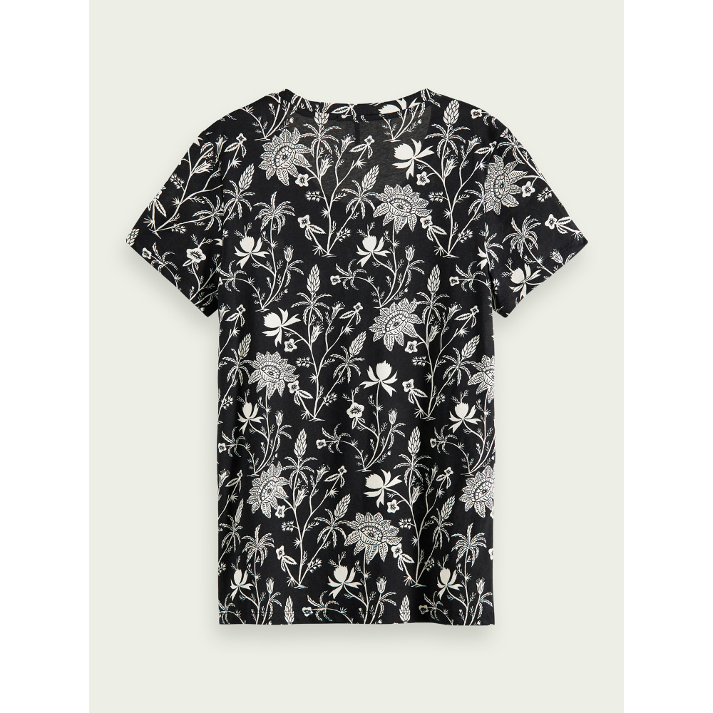 Scotch & Soda Women's S-Sleeved Printed T-Shirt