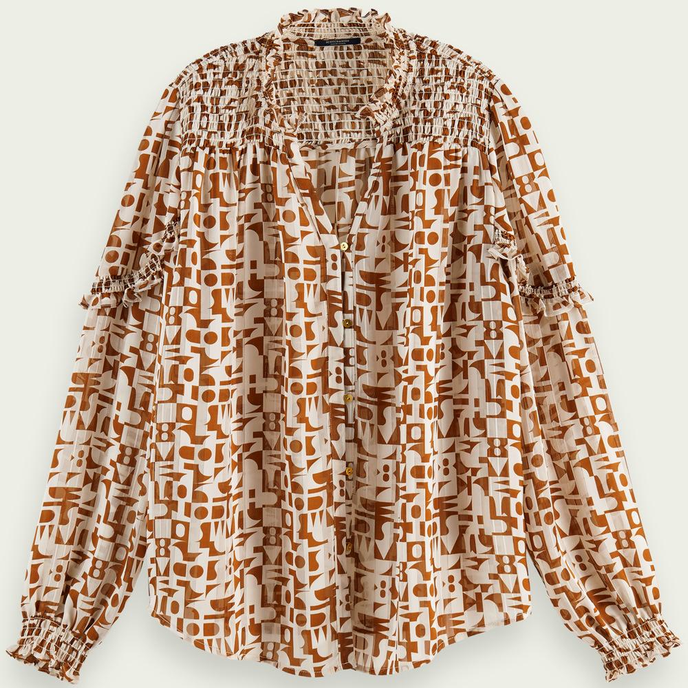 Scotch & Soda Women's Printed Sheer Shirt