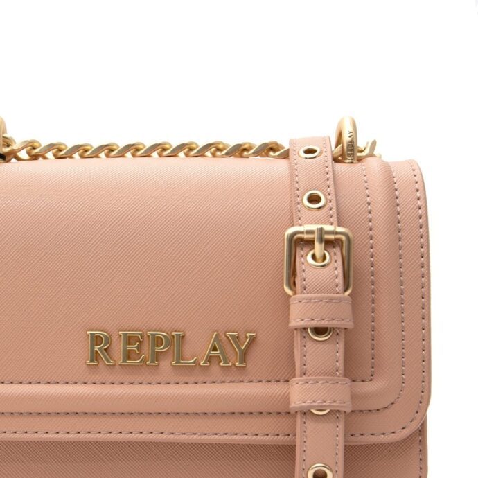 Replay Dirty Pale-Beige Women's Bag Saffiano