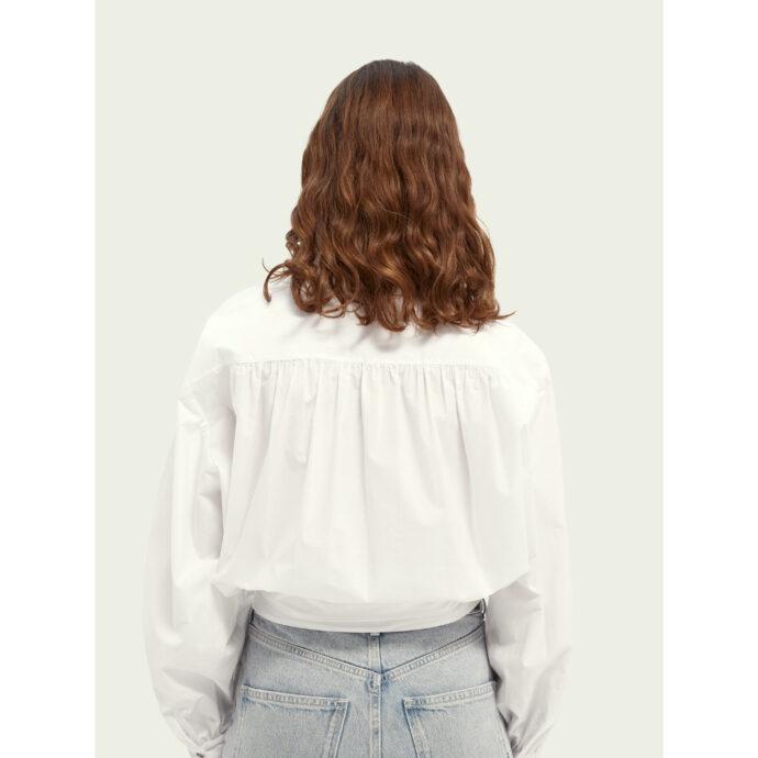 Scotch & Soda Women's Wrap Over Shirt