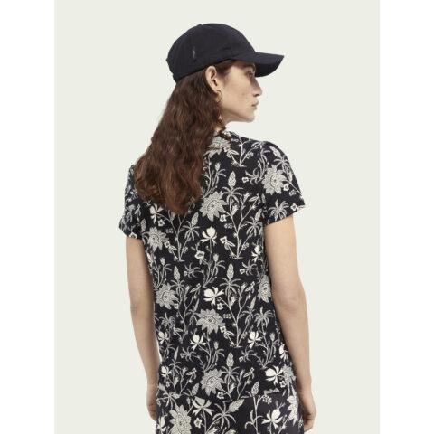 Scotch & Soda Women's S-Sleeved Printed T-Shirt