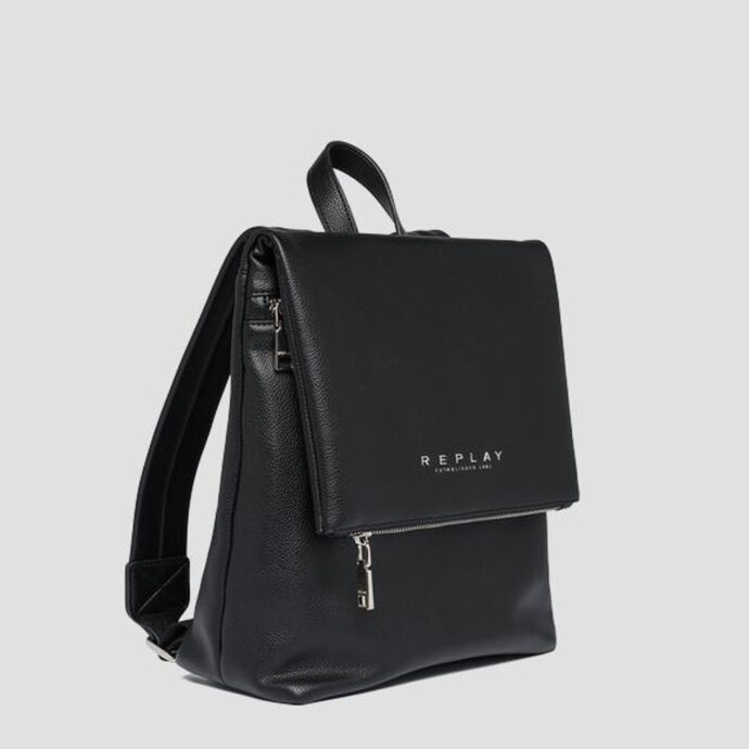 Replay Black Women's Soft Backpack Flap