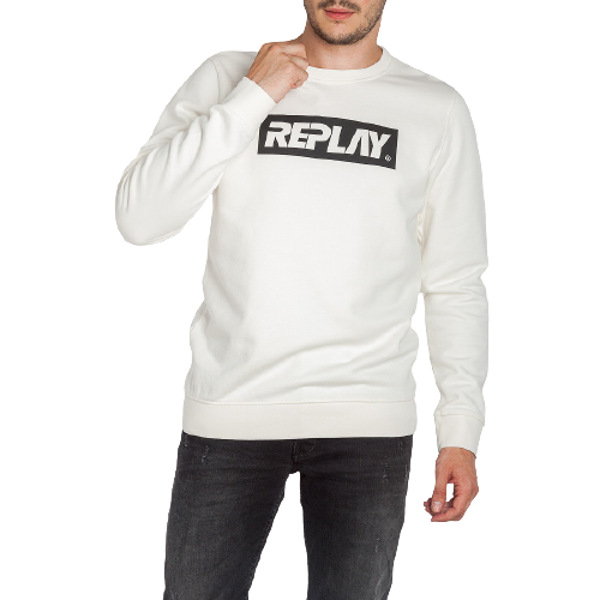 Replay Men's Sweatshirt Writing White