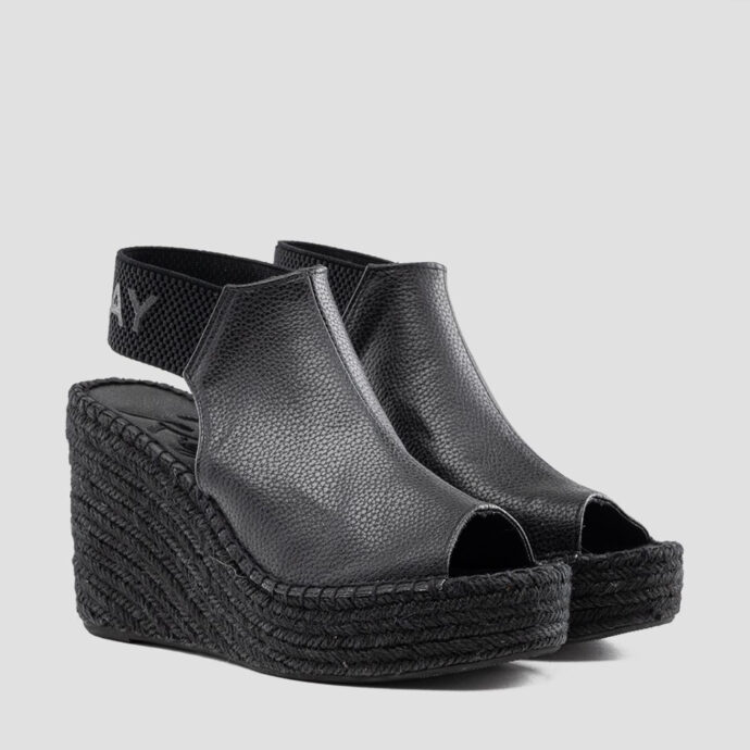 Replay Women's Black Tyne Wedges Platforms