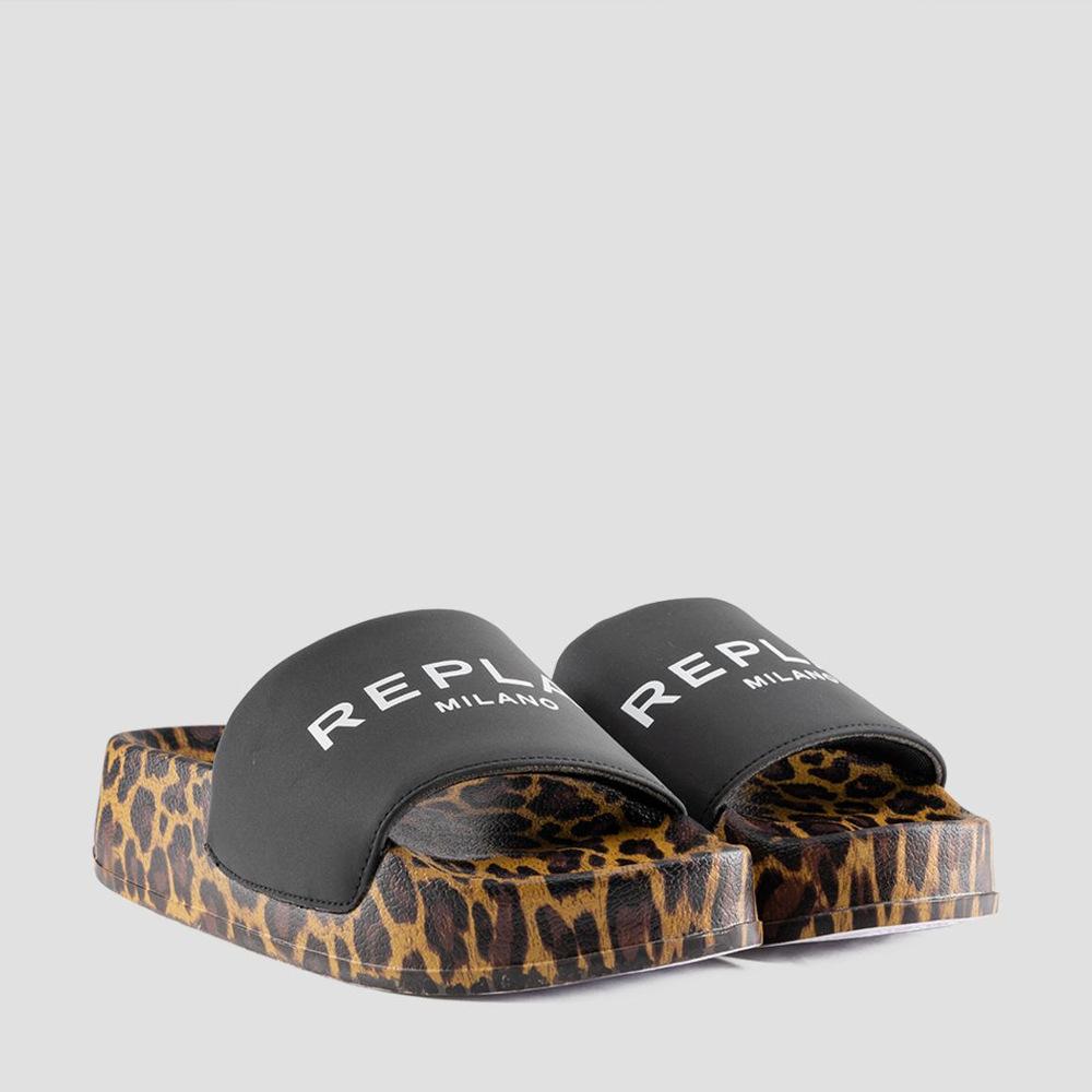 Replay Women's EWING Mules Black Leopard