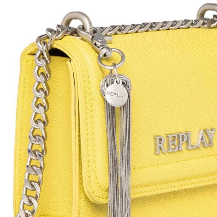 Replay Women's LT-Yellow-Green Crossbody Bag