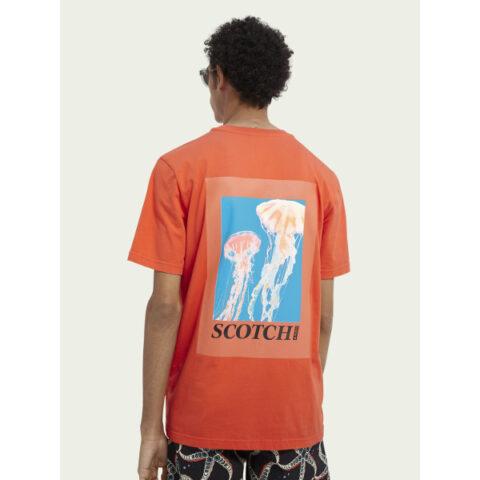 Scotch & Soda Men's Graphic T-shirt Signal Red