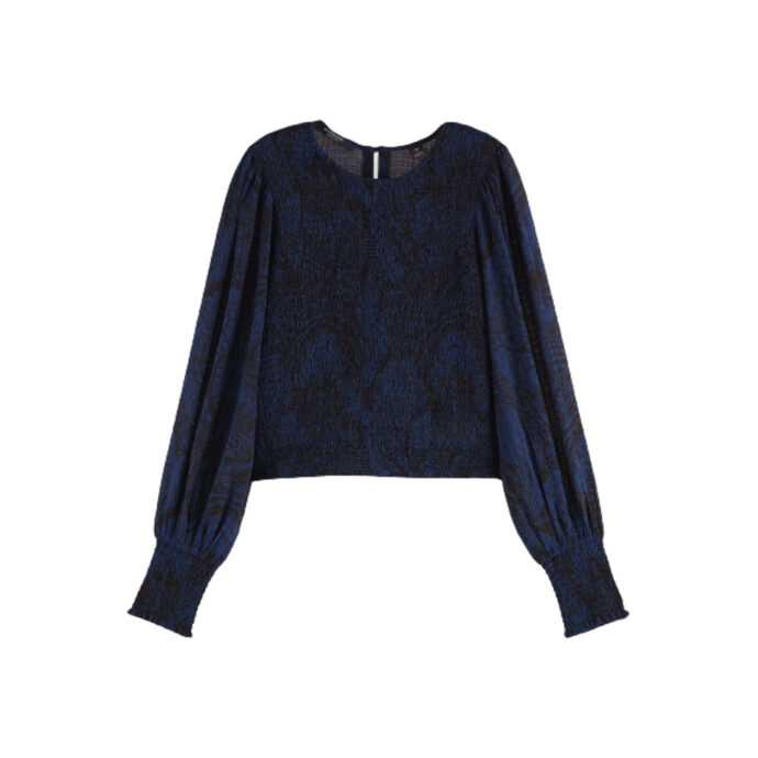 Scotch & Soda Women's Fitted top smock detail