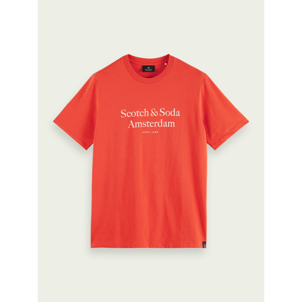 Scotch & Soda Men's Cotton jersey logo T-shirt