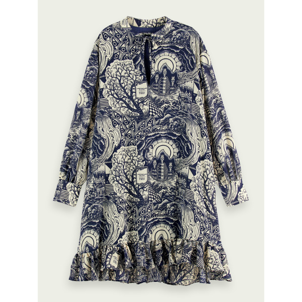 Scotch & Soda Maison Women's V-Neck Print Dress