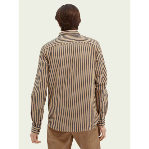 Scotch & Soda Men's Striped Regular Fit Shirt