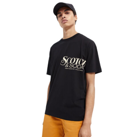 Scotch & Soda Men's Crewneck Organic Cotton T-Shirt