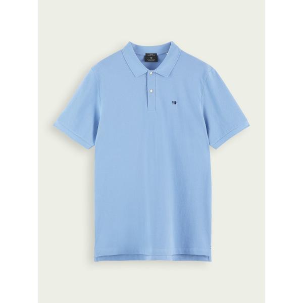 Scotch & Soda Men's Classic Polo Seaside Blue