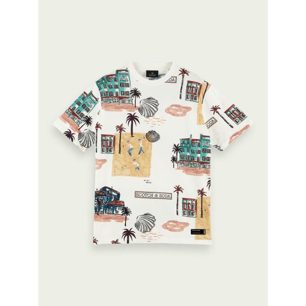 Scotch & Soda Men's Printed Cotton T-Shirt