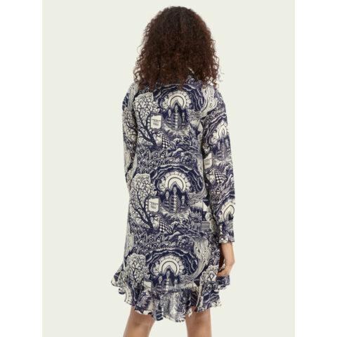 Scotch & Soda Maison Women's V-Neck Print Dress