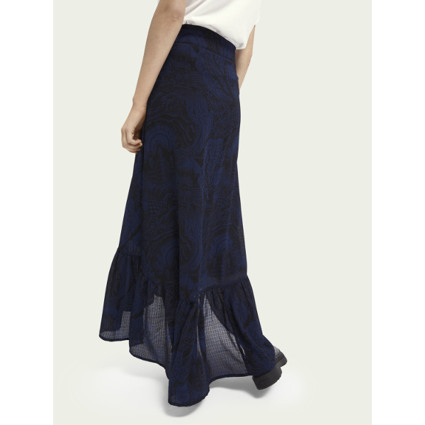 Scotch & Soda Maison Women's Patterned maxi skirt
