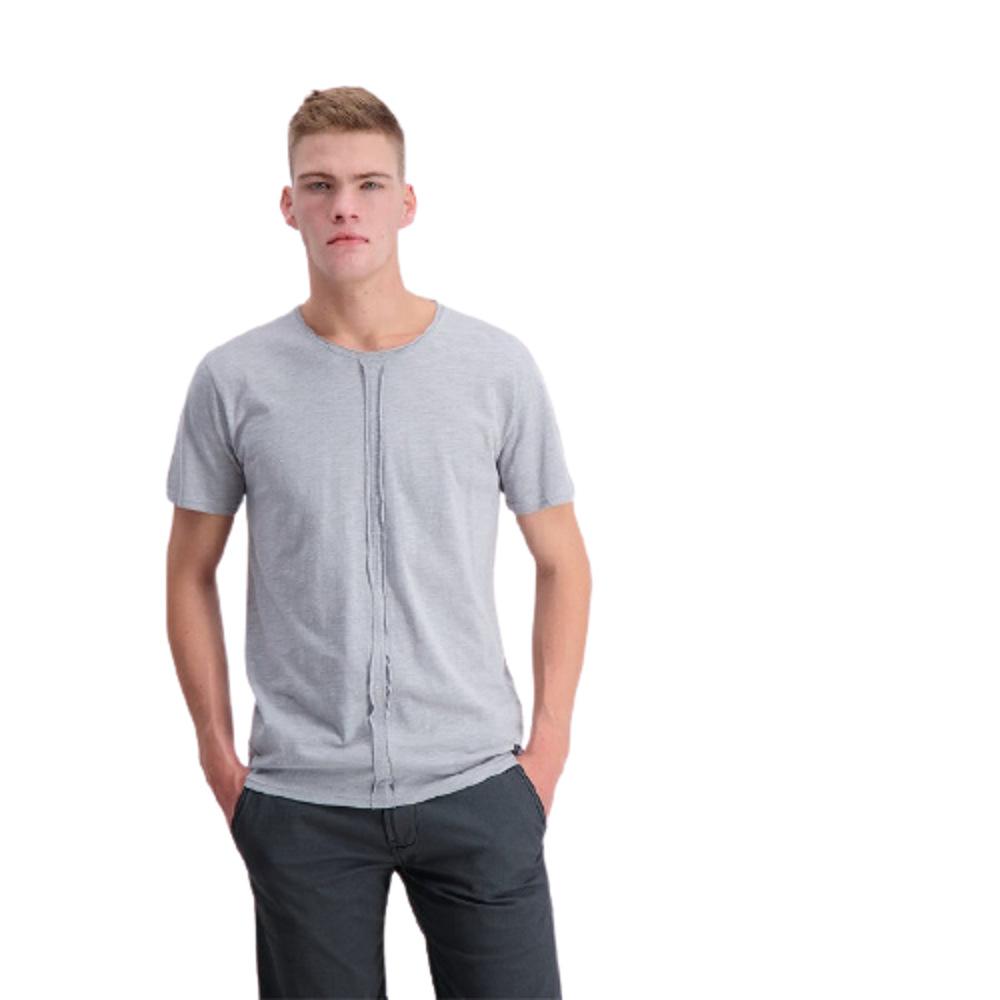 Men's T-Shirt Grey Crew Neck Shine Original
