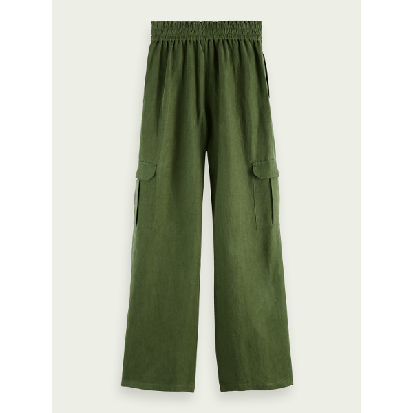 Scotch & Soda Maison Women's Linen Cargo Pants