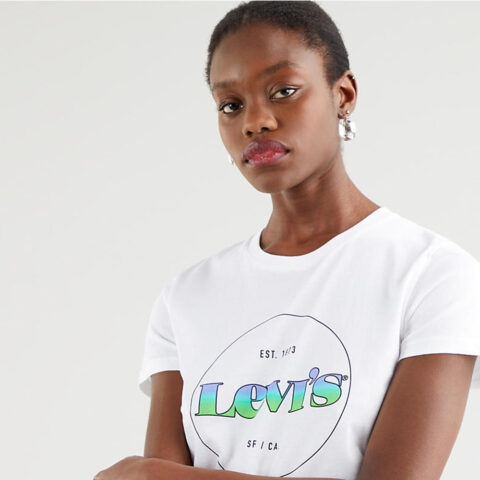 Levi's® The Perfect Tee Circle Logo Women's