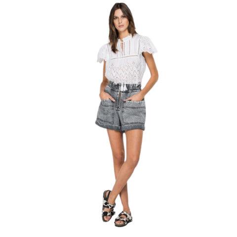 Replay Denim Women's Shorts With Zipper