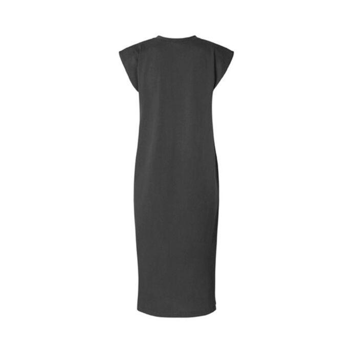 MbyM Stivian Γυναικείο Φόρεμα Με Βάτες Μαύρο