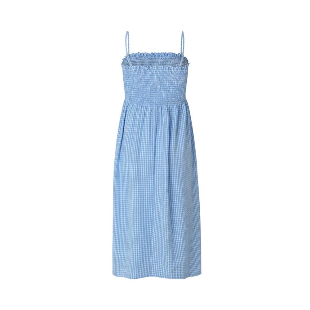 Φόρεμα MbyM Suneo Μπλε Καρό Ραντάκι