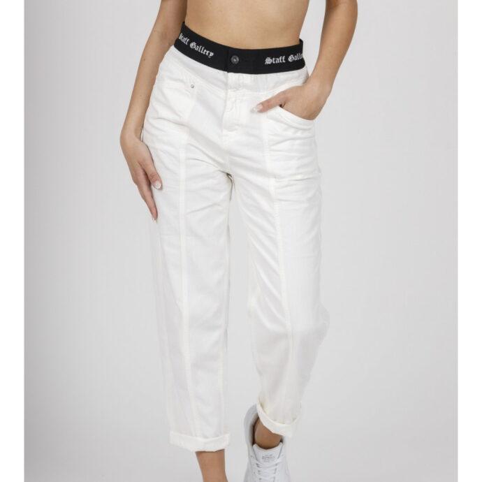 Staff White Regular Claudia Women's Pants