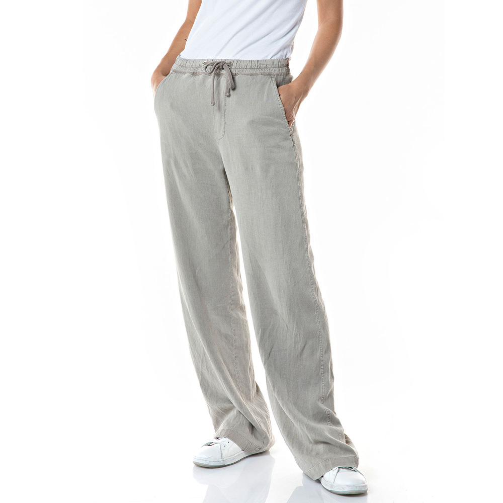 Replay Women's Wide Pant's In Linen and Viscose