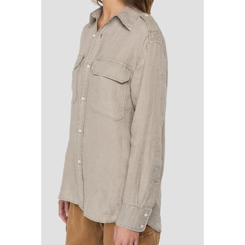Replay Essential Boy-Fit Shirt In Linen