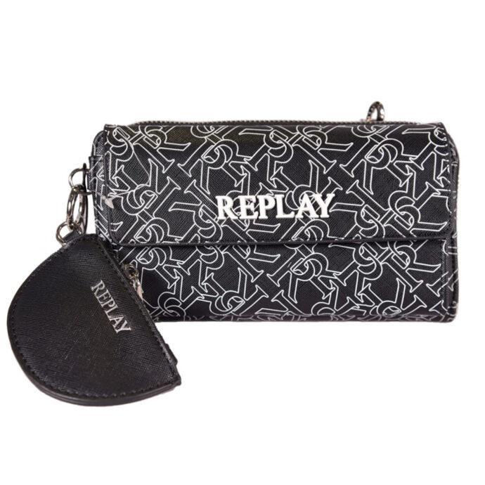 Replay Waist Bag/Crossbody R-Logo Print