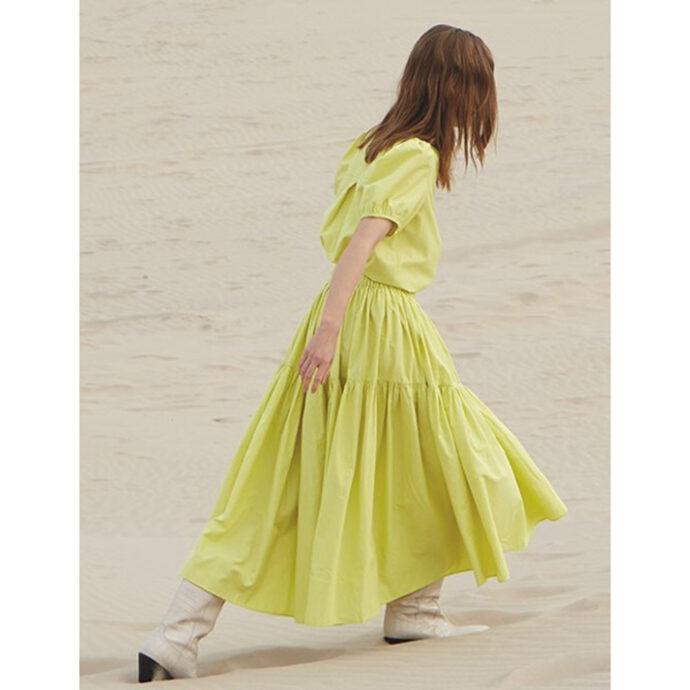MbyM Women's Yellow Skirt Vitto