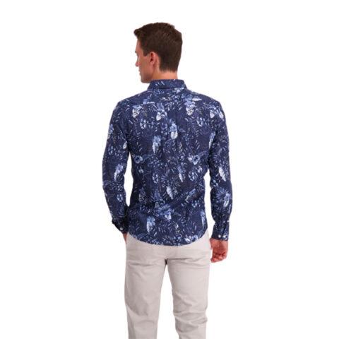 Lindbergh Men's Patterned Shirt Blue