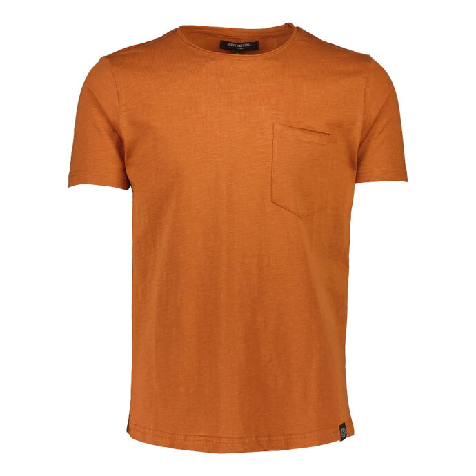 Men's T-Shirt Rust Orange Cotton