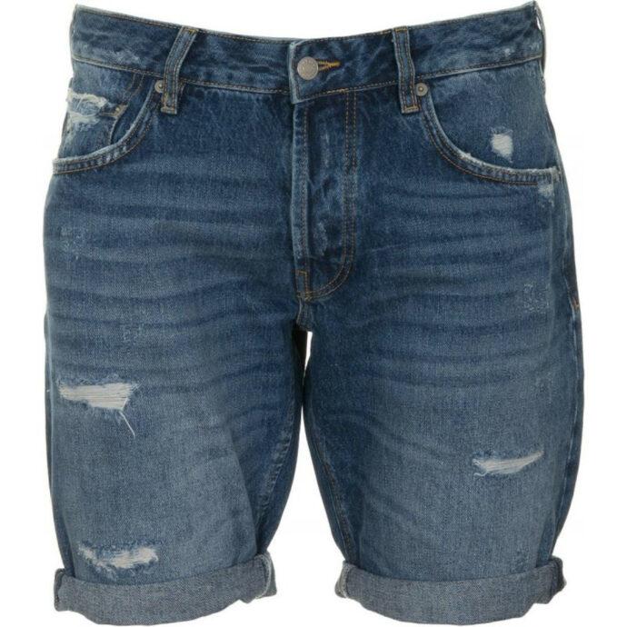 Staff Gallery Men's destroyed Blue-Jean Shorts
