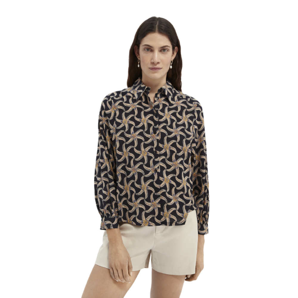Scotch & Soda Printed Organic Cotton-Blend Shirt