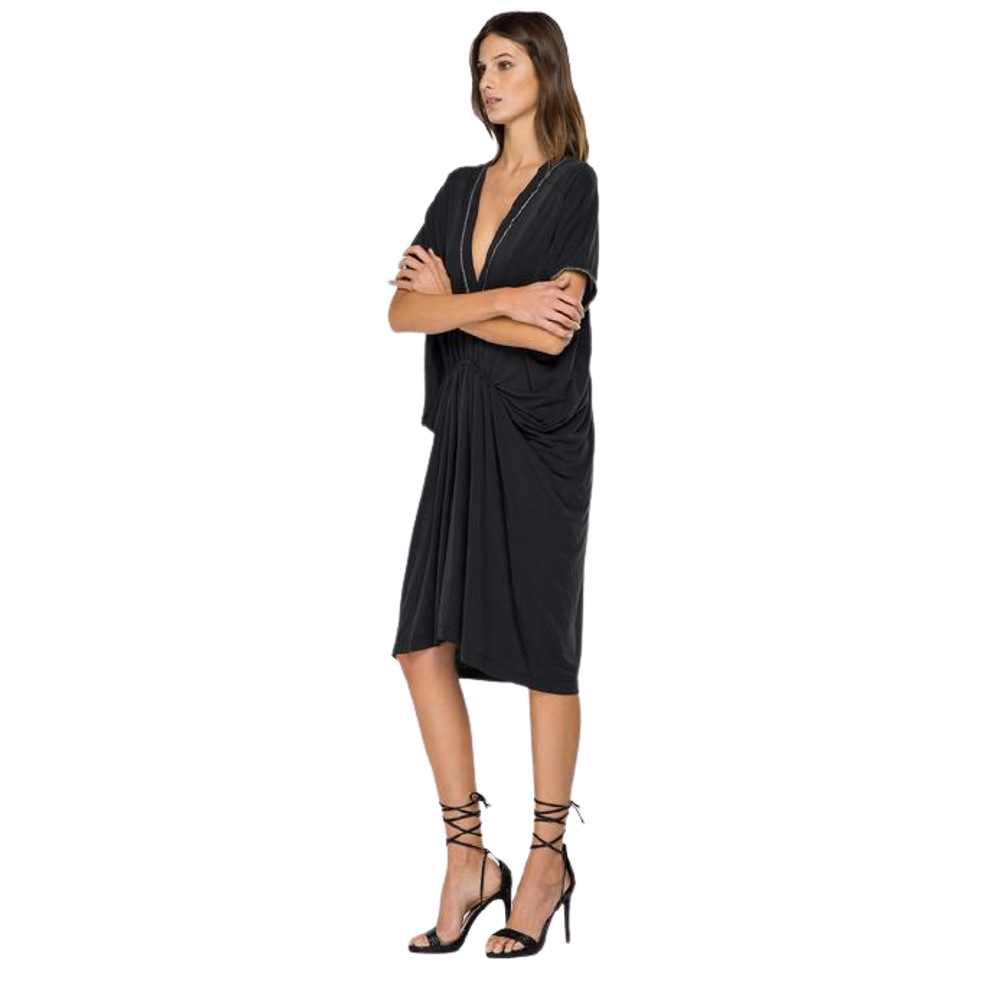 Replay Jersey Dress With Glitter Outline