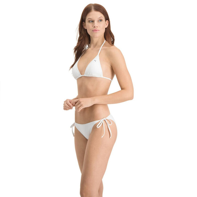 Puma Women's White Swim Triangle Top