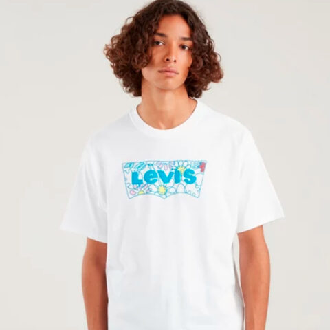 Levi's® Vintage Graphic-Tee Flower Batwing White