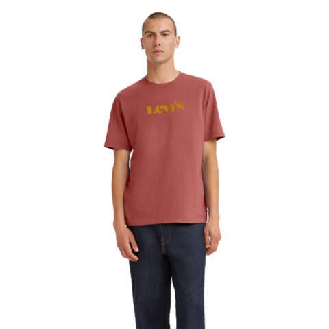Levi's® SS Relaxed Fit Tee-Marsala Red