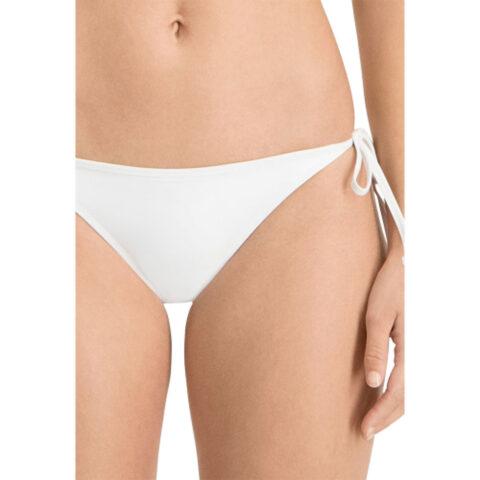 Puma White Side Tie Brief Swim