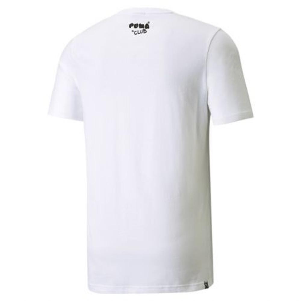 Puma White CLUB Graphic-Tee