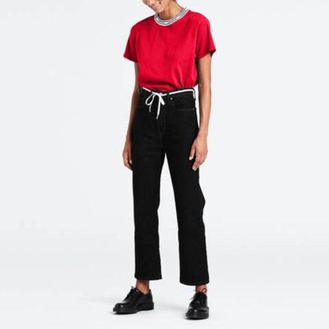 Levi's® Women's Ribcage Straight Ankle-Black