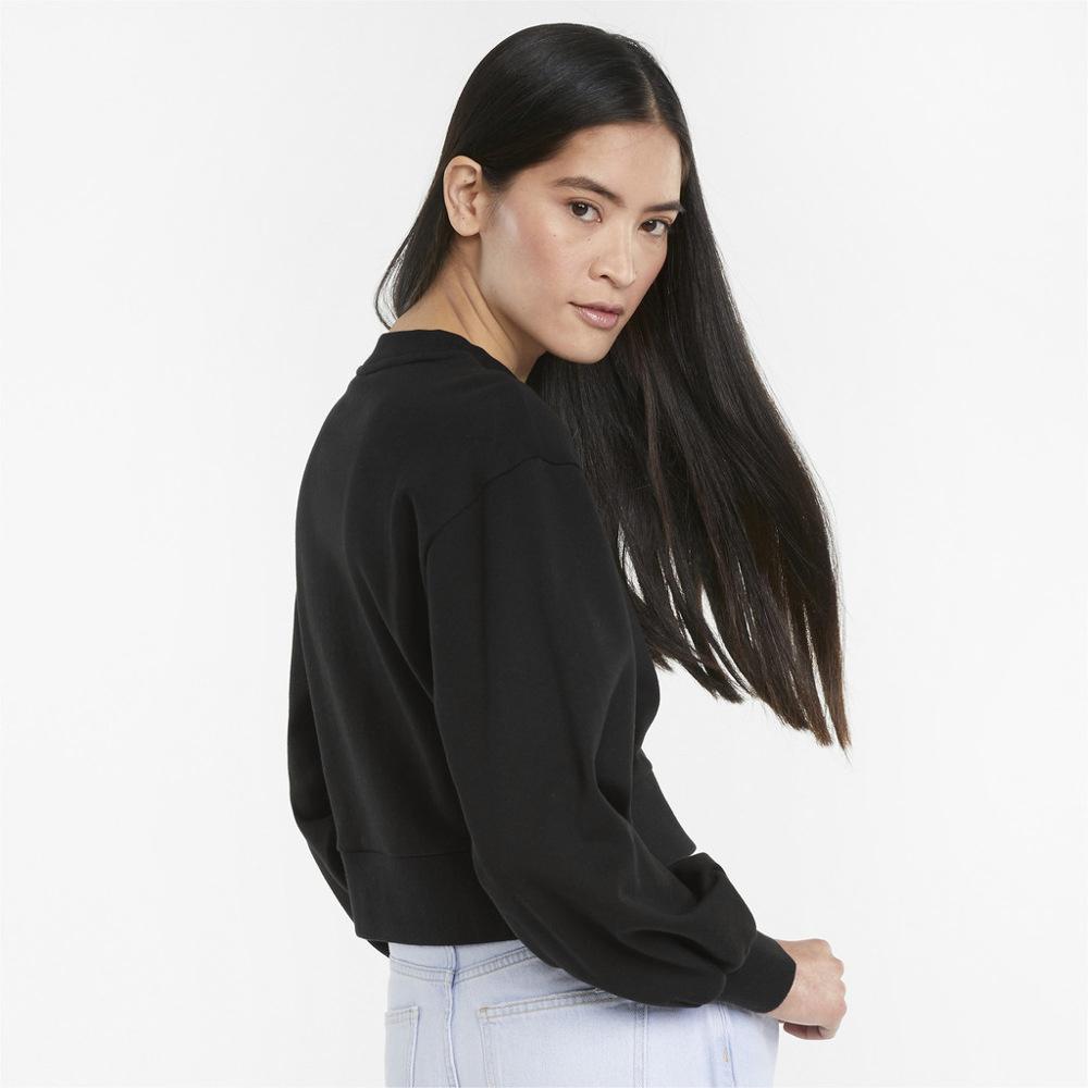 Puma Classics Puff-Sleeve Women's Sweatshirt Black