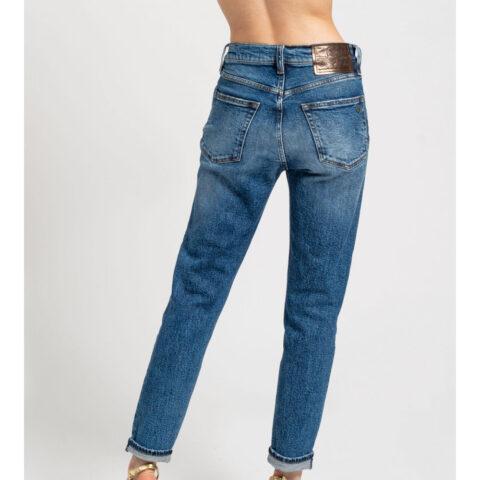 Staff ASHLEY Slim Crop Women's Blue Jeans
