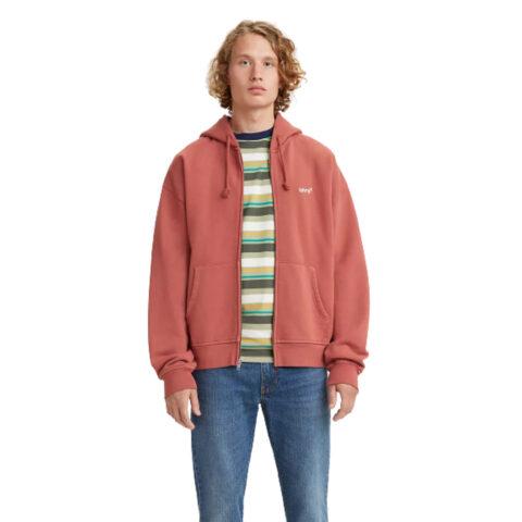 Levi's® Red Tab Sweats Zip Hoody-Marsala