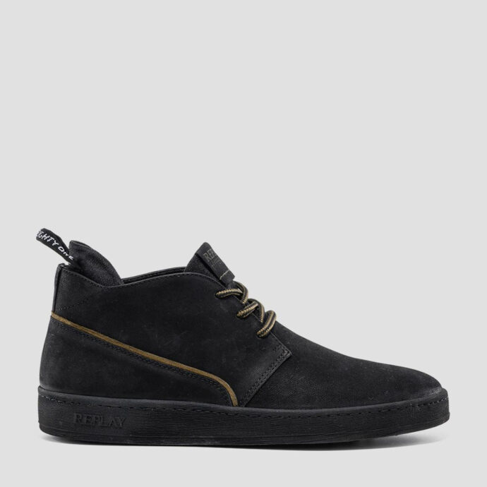 Replay Men's FIVEHEAD Leather Black Shoes