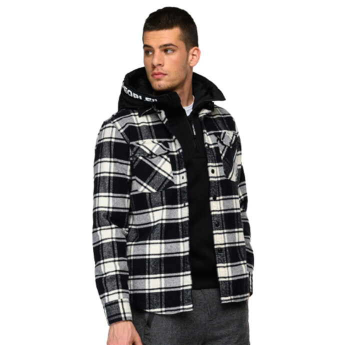 Replay Men's Checked Flannel-Shirt With Pockets