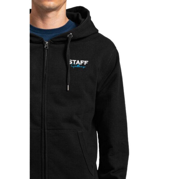 Staff Jason Man Sweat Zip-Hoodie Black