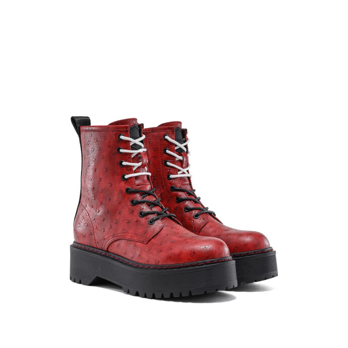 Replay Women's Kelley Lace Up Ankle Boots Red