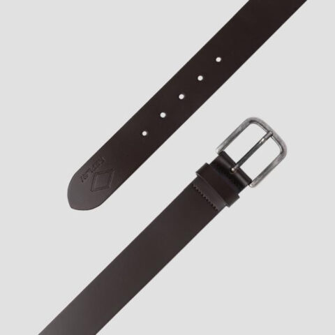 Replay Smooth Leather Belt Black/Coffee
